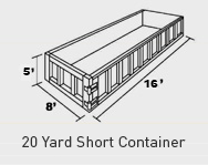 20 yard short container